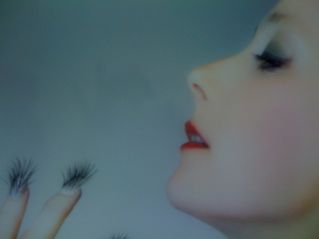 Astrid Köppe's eyelash fingernail self portraits.