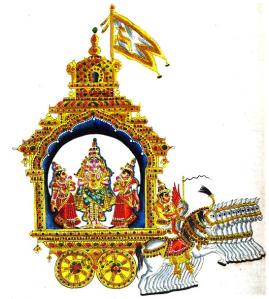Hindu lunar deity Chandra
