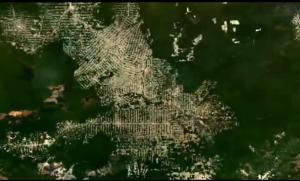 sliced up earth looks like circuit board