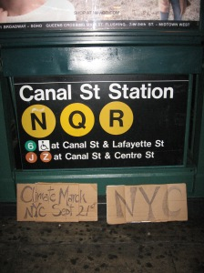 hitch sign Canal St. Station