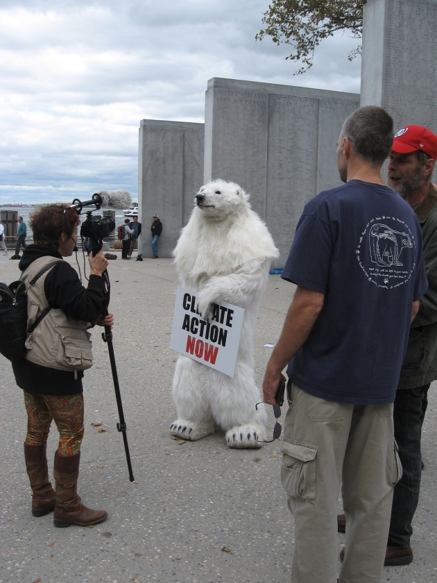 the Polar Bear canvassing for the Center for Biological Diversity