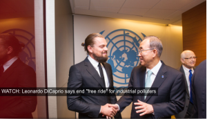 Leonardo DiCaprio at UN