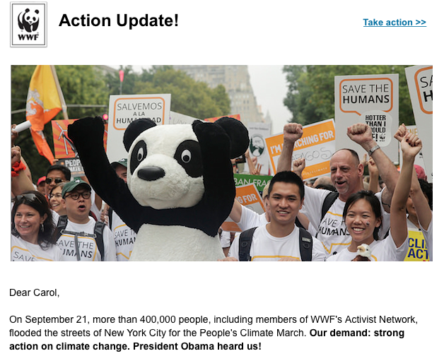 Climate Change Action Now, WWF, World Wildlife Fund