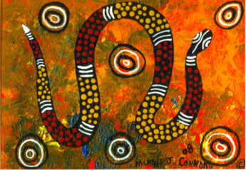 Aboriginal snake image