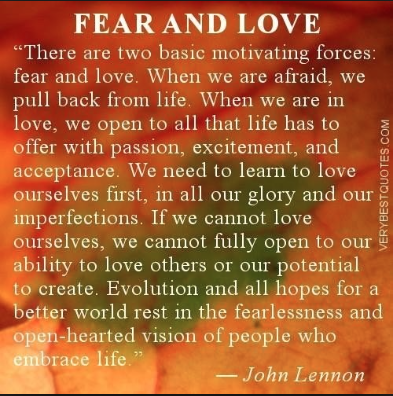 John Lennon, fear, love