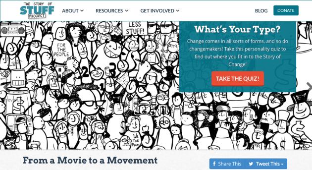StoryofStuff Project, Movement