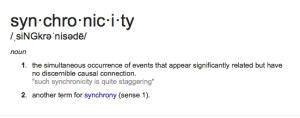 synchronicity, Carl Jung, acausal events