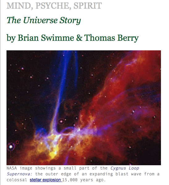 Mind, Psyche, Spirit, The Universe Story, Brian Swimme, Thomas Berry