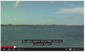 carbon capture skid, NRL, Navy Research Laboratory