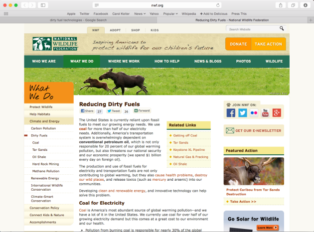 National Wildlife Federation What We Do Get out of Dirty Energy
