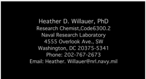 Research chemist, Heather D. Willhauer, NRL