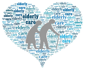 heart wordcloud ederly care