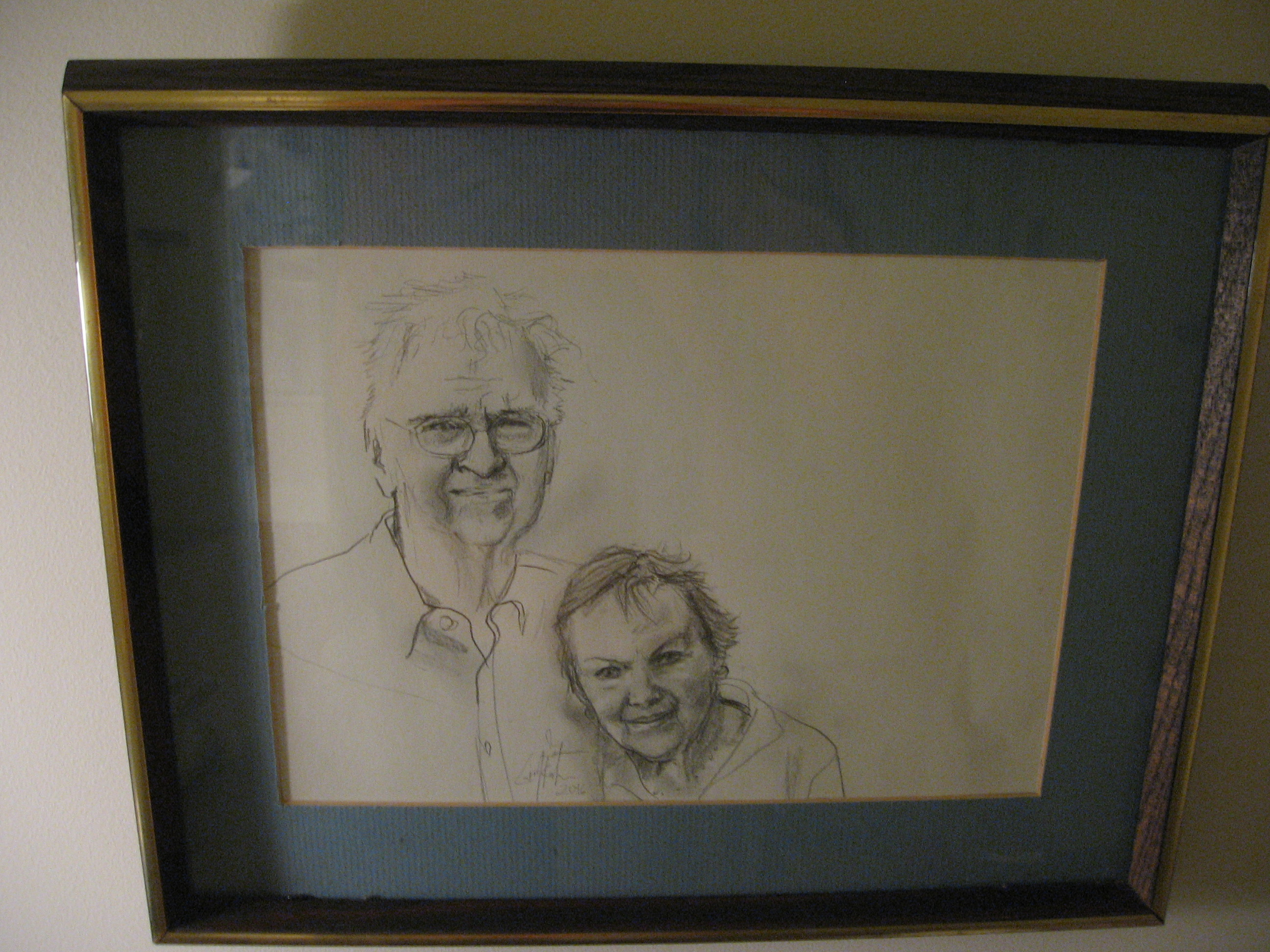 sketch by Carol, daughter of James and Lois Keiter