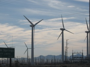 windmill, southern California, desert