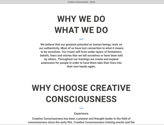 Creative Consciousness, Human Potential, Authenticity