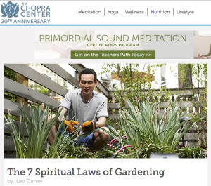 The 7 Spiritual Laws of Gardening,