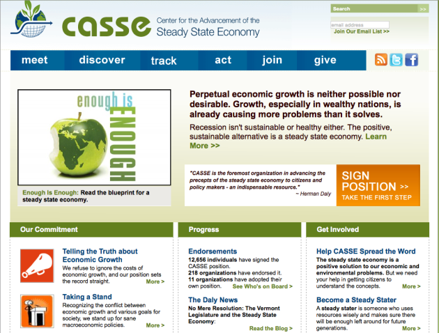 CASSE, Center for the Advancement of the Steady State Economy