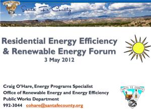 craig O'Hare, Renewable Energy Efficiency, Renewable Energy Forum
