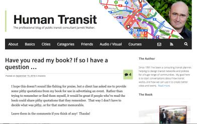 Jarrett Walker, Human Transit