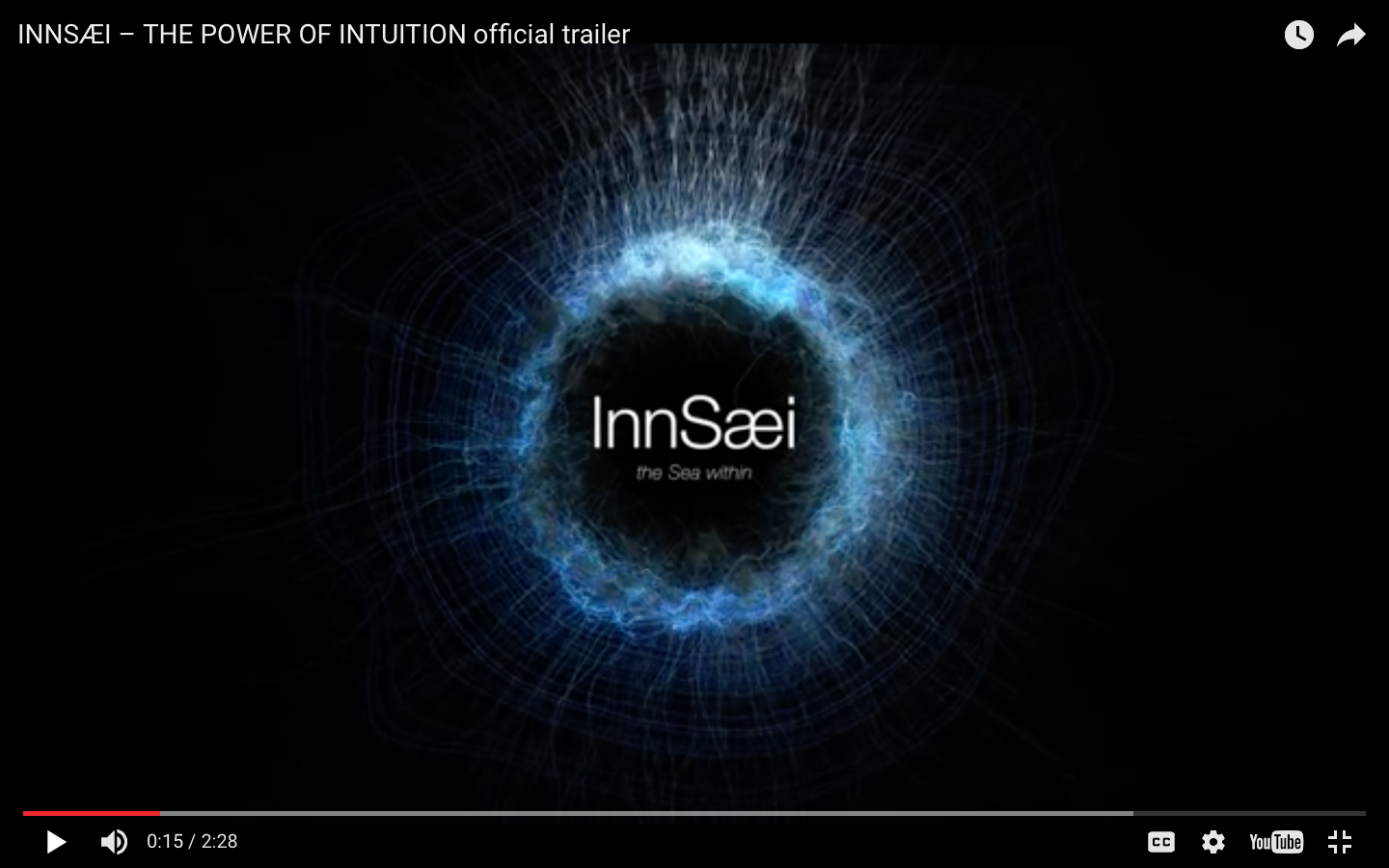 InnSaei, The Power of Intuition, The Sea Within, Trailer