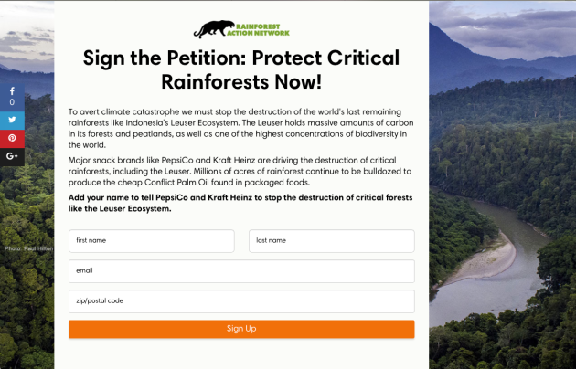 Sign the Petition, Protect Critical Rainforests Now