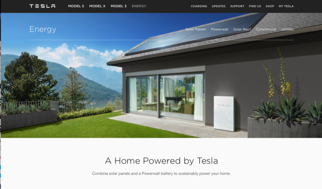 Tesla Energy Powerwall Active Solar Battery Recharger