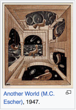Escher, Another World, Scale Dimension, Similarities of Matter