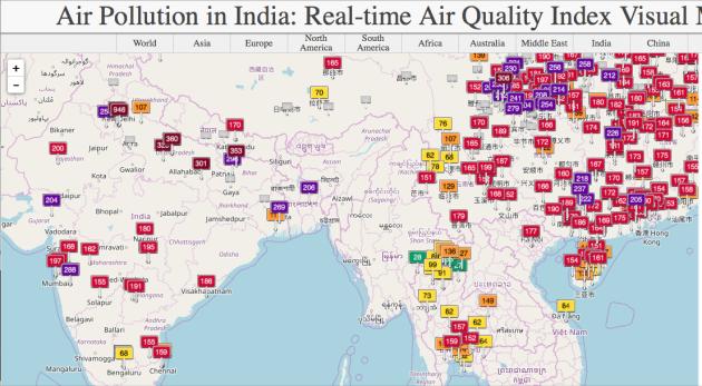 Real-time International Air Polllution Index aqicn