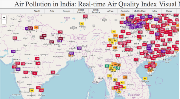 Real-time International Air Polllution Index aqicn