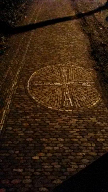 lovely detailed inlaid stone sidewalks Freiburg, Germany