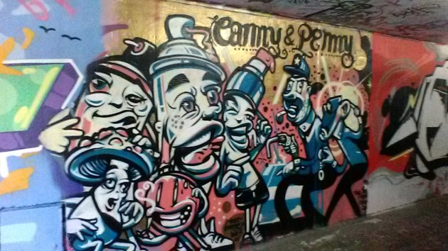 Freiburg, Germany graffiti tunnels