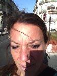 blogger Carol Keiter sun selfie Montpellier, France
