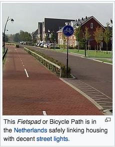 Fietspad bicycle infrastructure in the Netherlands