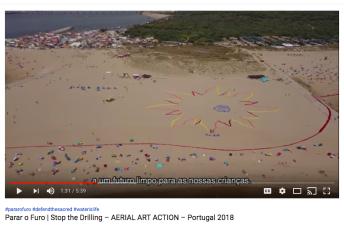 Parar o Furo, Stop the drilling, Portugal 2018