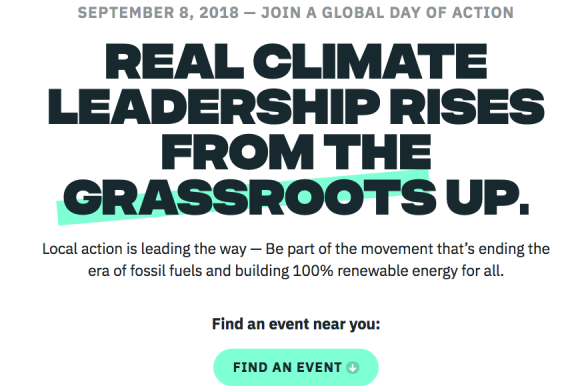 Rise for Climate Global day of Action Sept. 8
