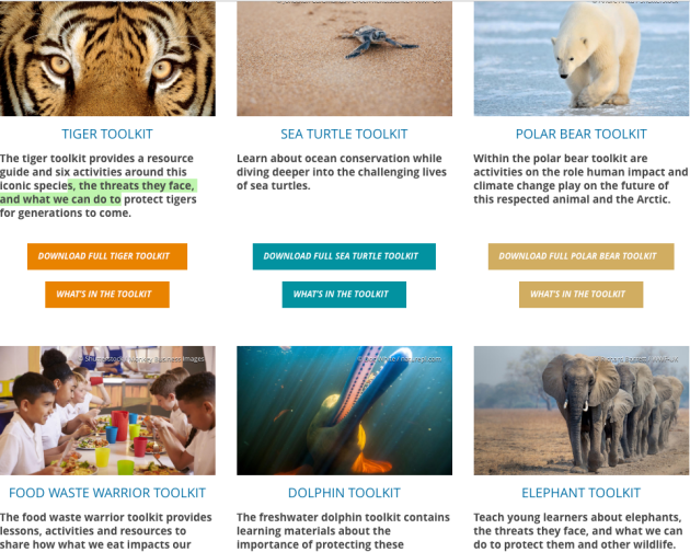 World Wildlife Fund Teachers Resource Guides ToolKits