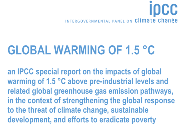 Intergovernmental Panel on Climate Change, IPCC, Summary for Policymakers