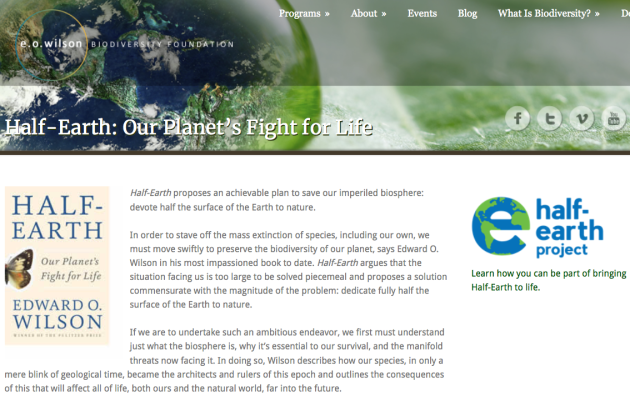 Half-Earth Edward O Wilson Devote Half Surface of Earth to Nature