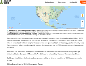US cities, counties, states already committed, 100% Renewable Energy
