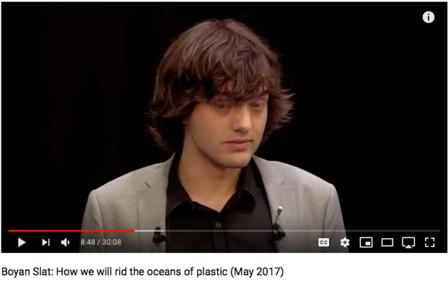 Boyan Slat, rid oceans of plastic
