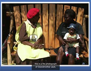 Grandmother Jack in Zimbabwe helped to pioneer the Friendship Bench program