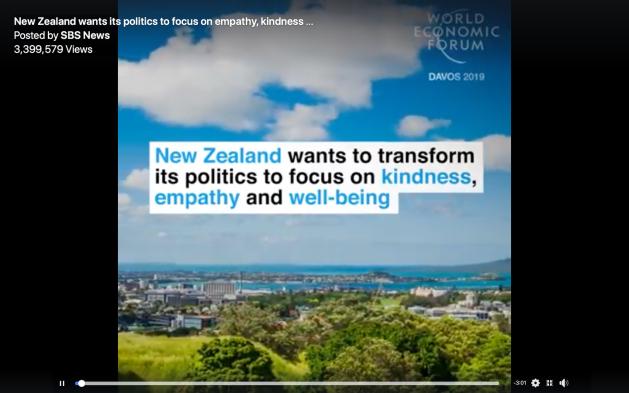 Jacinda Ardern, New Zealand, politics of kindness, empathy, well-being