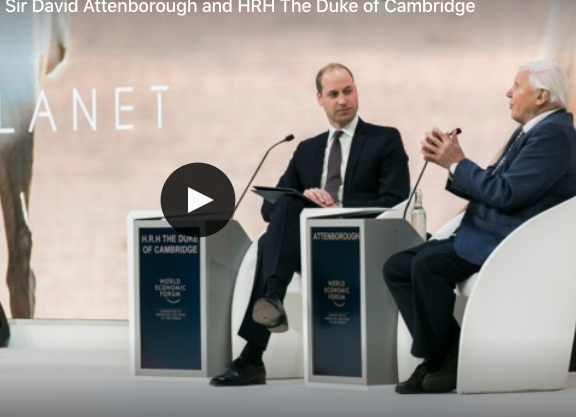 Sir David Attenborough interviewed by Prince William, HRH Duke of Cambridge