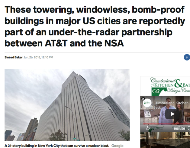 These towering, windowless, bomb-proof cellular communications buildings are in under-the-radar partnership with the NSA.