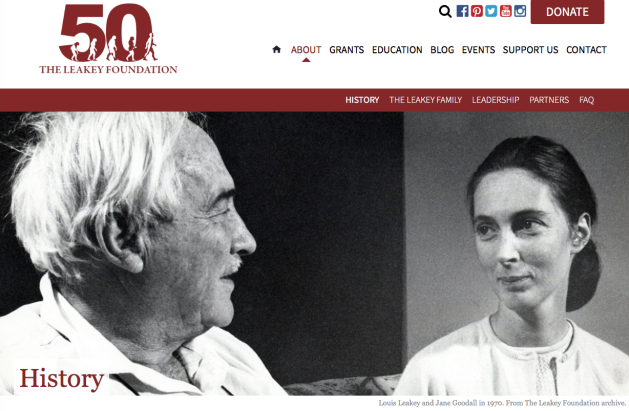 Louis Leakey and Jane Goodall 1970 leakeyfoundation