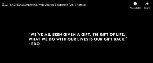 Sacred Economics with Charles Eisenstein 2019 remix