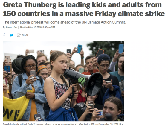 Greta Thunberg, climate strike, 150 countries, massive Friday climate strike, international protest, UN Climate Action Summit