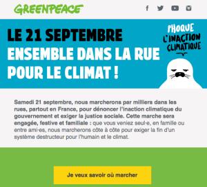 le 21 septembre ensemble dans la rue pour le climat
