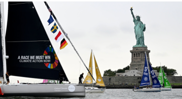 Greta Thunberg, New York city, crossing the Atlantic, solar-powered, emission free sail boat