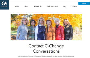 C-change conversations has a group of volunteers that span the spectrum in terms of political interests: